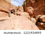 petra  jordan. tombs and... | Shutterstock . vector #1221924895