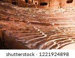 petra  jordan. tombs and... | Shutterstock . vector #1221924898