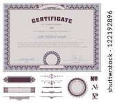 certificate template with... | Shutterstock .eps vector #122192896