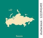 vector map of russia | Shutterstock .eps vector #1221941455