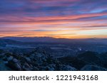 rocky peak park hilltop sunrise ... | Shutterstock . vector #1221943168
