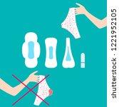 vector illustration of pants... | Shutterstock .eps vector #1221952105
