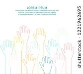 colorful hand up vector   Shutterstock .eps vector #1221962695
