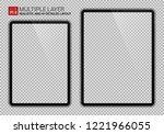 realistic 11 inch and 12.9 inch ... | Shutterstock .eps vector #1221966055