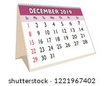 2019 december month in a desk... | Shutterstock .eps vector #1221967402