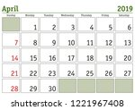 simple digital calendar for... | Shutterstock .eps vector #1221967408