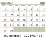 simple digital calendar for... | Shutterstock .eps vector #1221967435