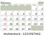 simple digital calendar for... | Shutterstock .eps vector #1221967462