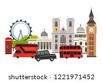 london skyline vector... | Shutterstock .eps vector #1221971452
