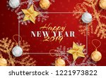 new year layout social media... | Shutterstock .eps vector #1221973822