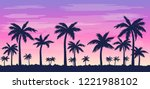 vector illustration with palm... | Shutterstock .eps vector #1221988102