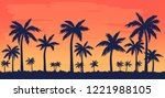 vector illustration with palm... | Shutterstock .eps vector #1221988105