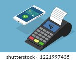 vector image of payment from... | Shutterstock .eps vector #1221997435