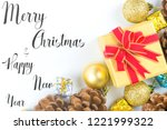 merry christmas and new year... | Shutterstock . vector #1221999322