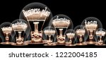 photo of light bulb with... | Shutterstock . vector #1222004185