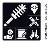 set of 6 hand filled icons such ... | Shutterstock .eps vector #1222011622