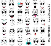 set  face  emotions ... | Shutterstock .eps vector #1222012252