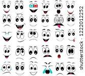 set  face  emotions ... | Shutterstock .eps vector #1222012252