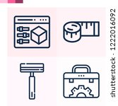 contains such icons as 3d... | Shutterstock .eps vector #1222016092