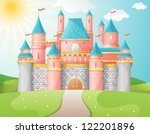 fairytale castle illustration.... | Shutterstock .eps vector #122201896