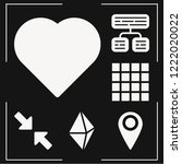 set of 6 interface filled icons ...   Shutterstock .eps vector #1222020022