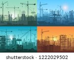 morning sunrise  sunset and day ... | Shutterstock .eps vector #1222029502