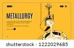 metallurgy plant isometric... | Shutterstock .eps vector #1222029685