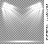 stadium floodlights brightly... | Shutterstock .eps vector #1222033465