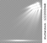 stadium floodlights brightly... | Shutterstock .eps vector #1222033468