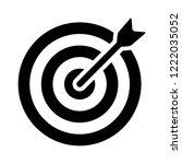 target bullseye with arrow or... | Shutterstock .eps vector #1222035052