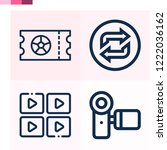 contains such icons as video... | Shutterstock .eps vector #1222036162