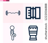 contains such icons as... | Shutterstock .eps vector #1222036888