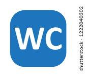 wc sign vector inscription    Shutterstock .eps vector #1222040302