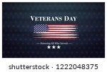 veterans day  november 11 ... | Shutterstock .eps vector #1222048375