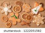 christmas gingerbread oranges...   Shutterstock . vector #1222051582