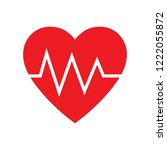 pulse rate of heart  cardiogram ... | Shutterstock .eps vector #1222055872