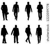 set silhouette businessman man... | Shutterstock .eps vector #1222059778