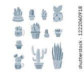 vector set of bright cacti ...   Shutterstock .eps vector #1222060918