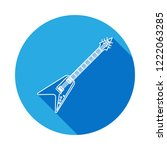 electro guitar vector icon with ... | Shutterstock .eps vector #1222063285