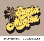 santa monica. vector...   Shutterstock .eps vector #1222068655