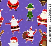 christmas seamless pattern with ... | Shutterstock .eps vector #1222068718