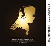 gold map of netherlands... | Shutterstock .eps vector #1222069975