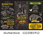 mexican menu template for... | Shutterstock .eps vector #1222081912