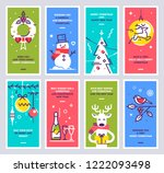 super set of christmas and new... | Shutterstock .eps vector #1222093498