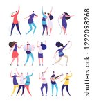 people on birthday party.... | Shutterstock .eps vector #1222098268