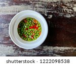Stock photo fish sauce with chilies nam pla prik 1222098538