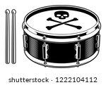 vector illustration of drum... | Shutterstock .eps vector #1222104112