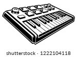 vector illustration of midi... | Shutterstock .eps vector #1222104118