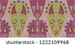 seamless folk background....   Shutterstock .eps vector #1222109968