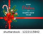 dark blue holiday card | Shutterstock .eps vector #1222115842
